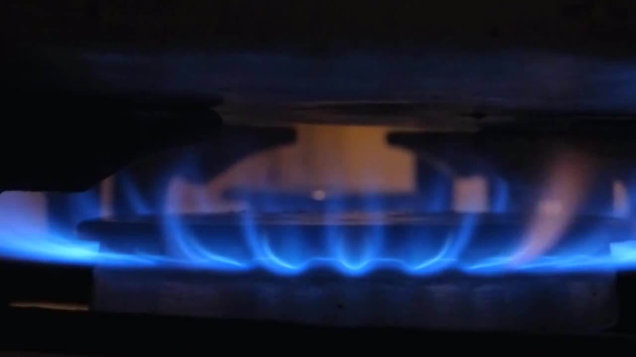Fire blue stove flame energy