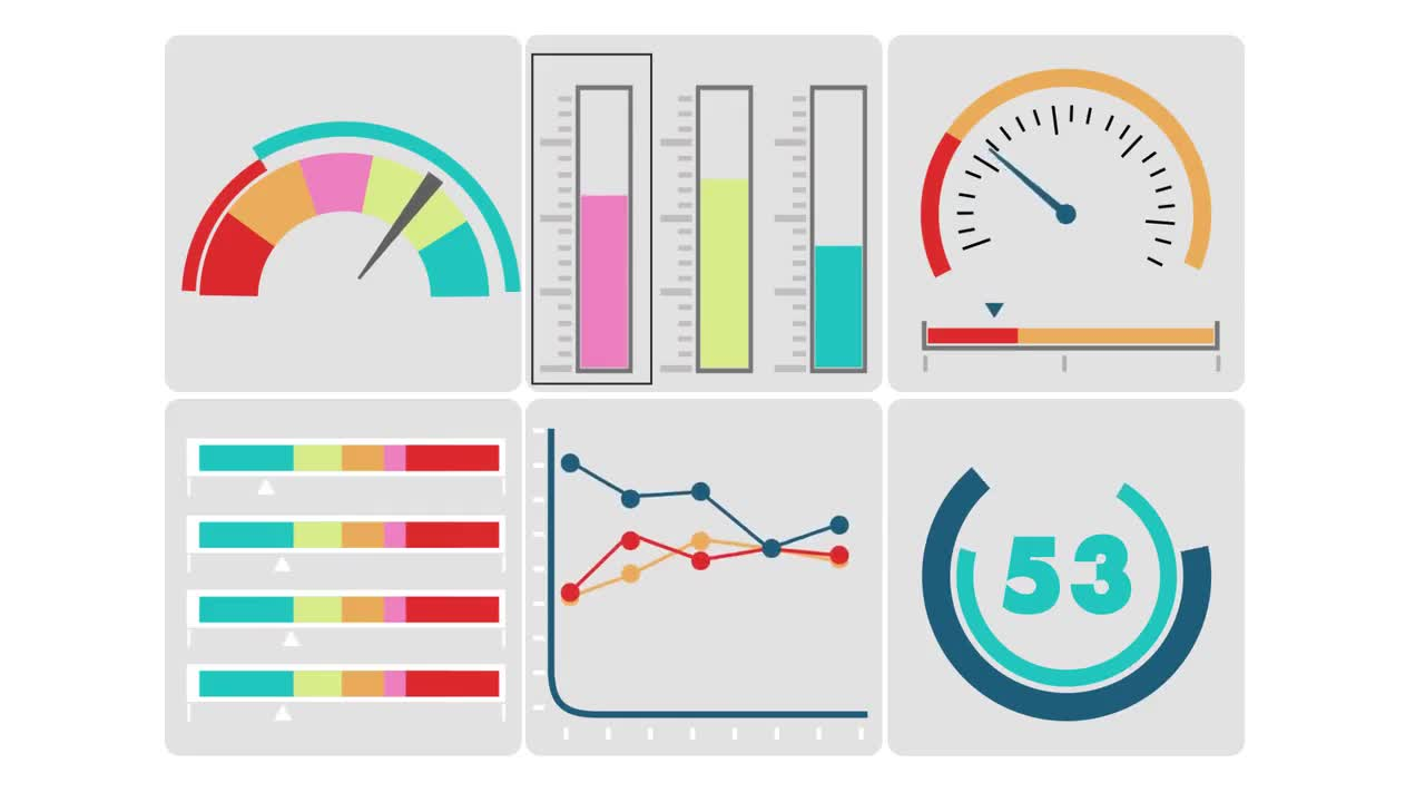 Dashboard data graphs diagrams analysis