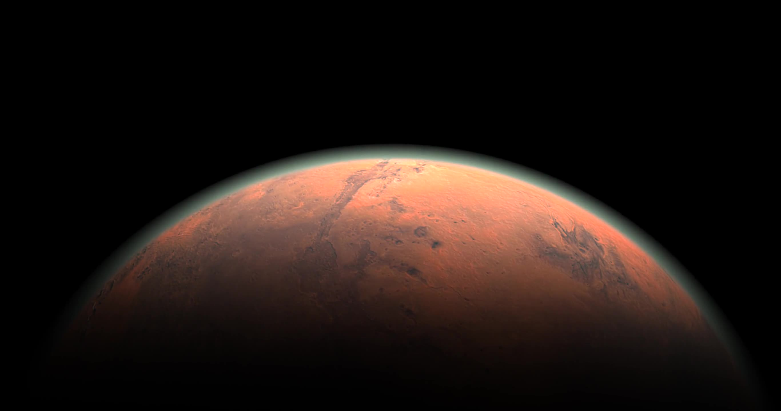 Mars horizon approximation the red planet