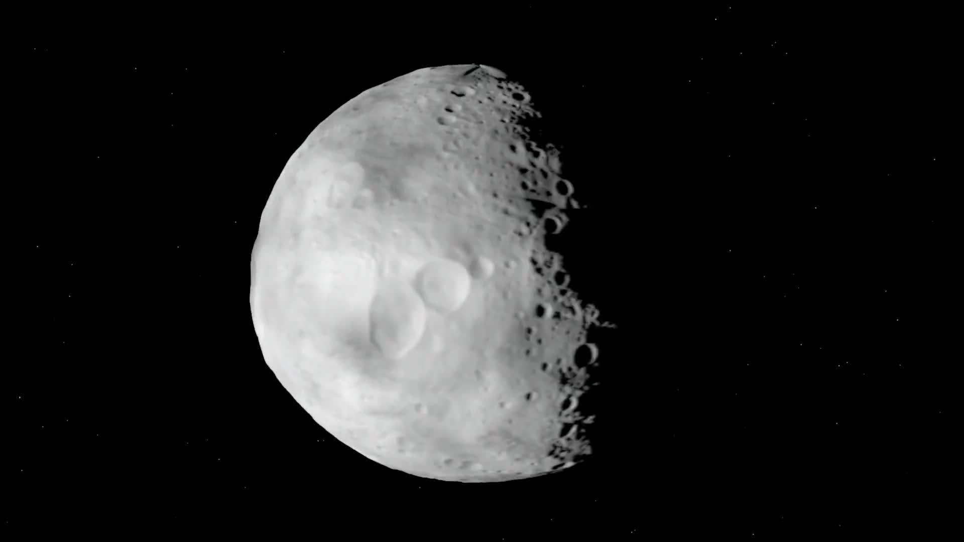Asteroid vesta space crater rotation