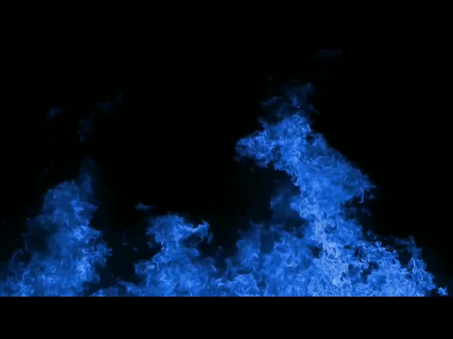 Flame blue black background