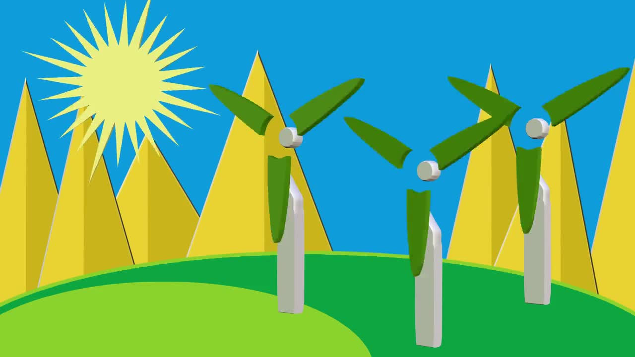 Clean energy sun wind energy solar