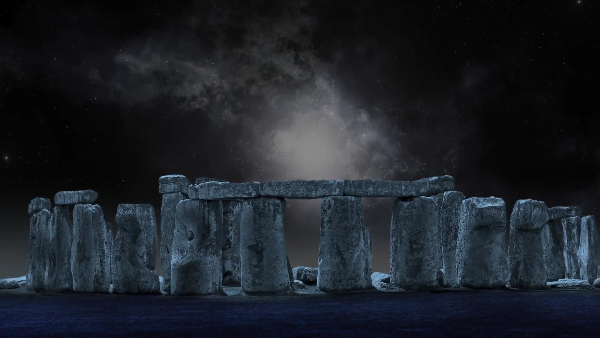 Stonehenge moon full moon stone circle night sky