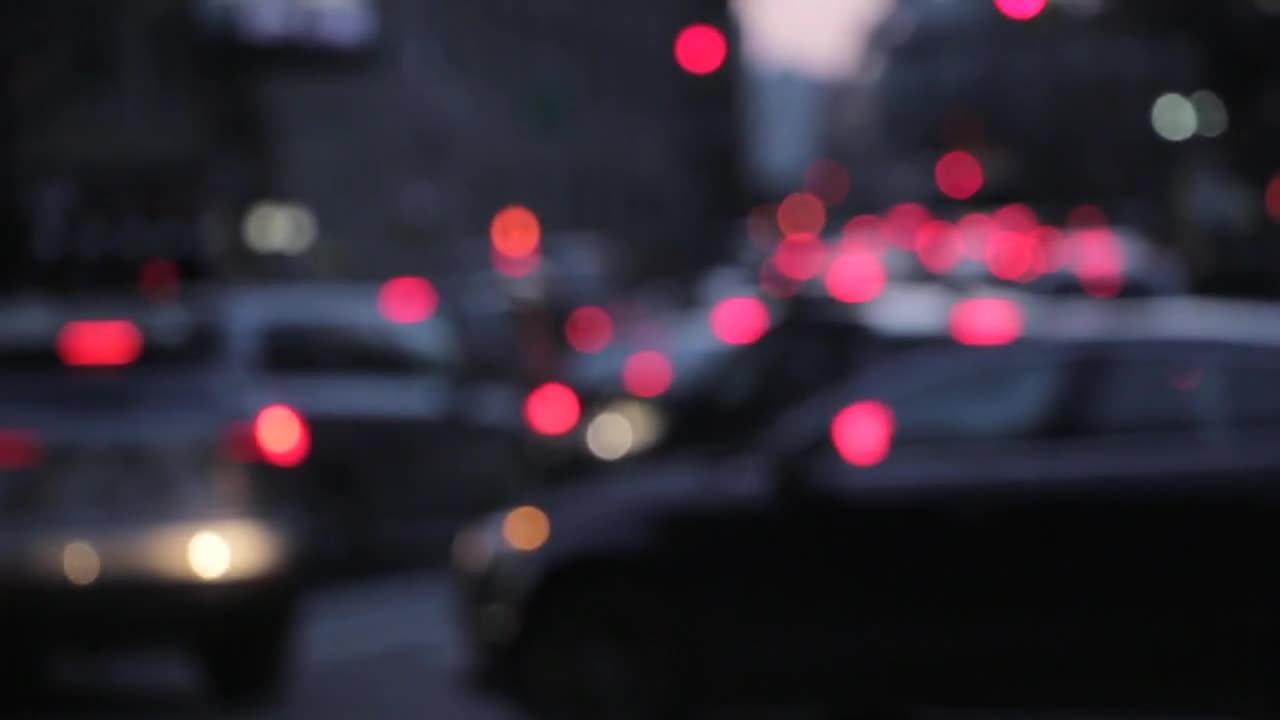 Traffic night lights background bokeh