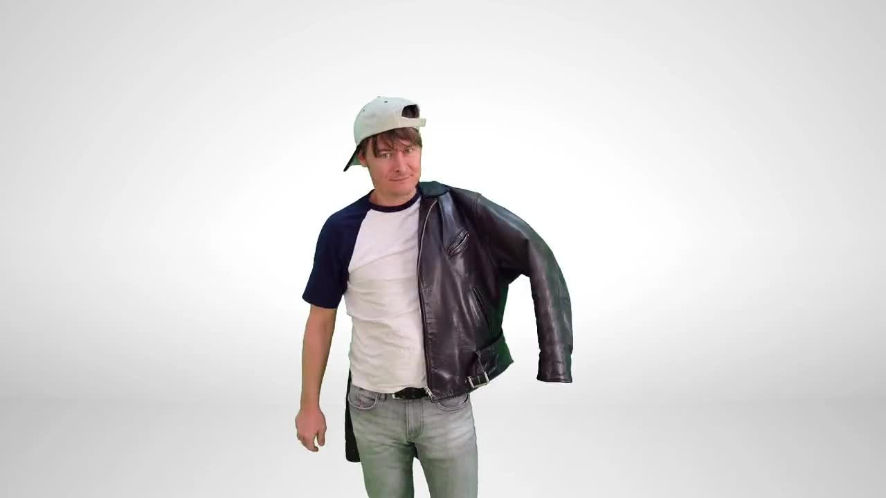 Stop motion attract undress jacket clothing