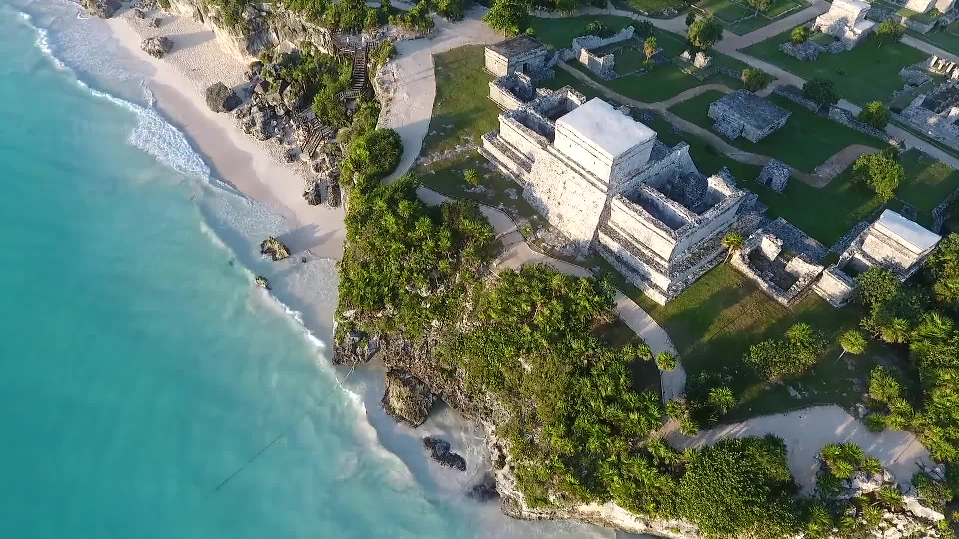 Tulum mexico temples beach shore