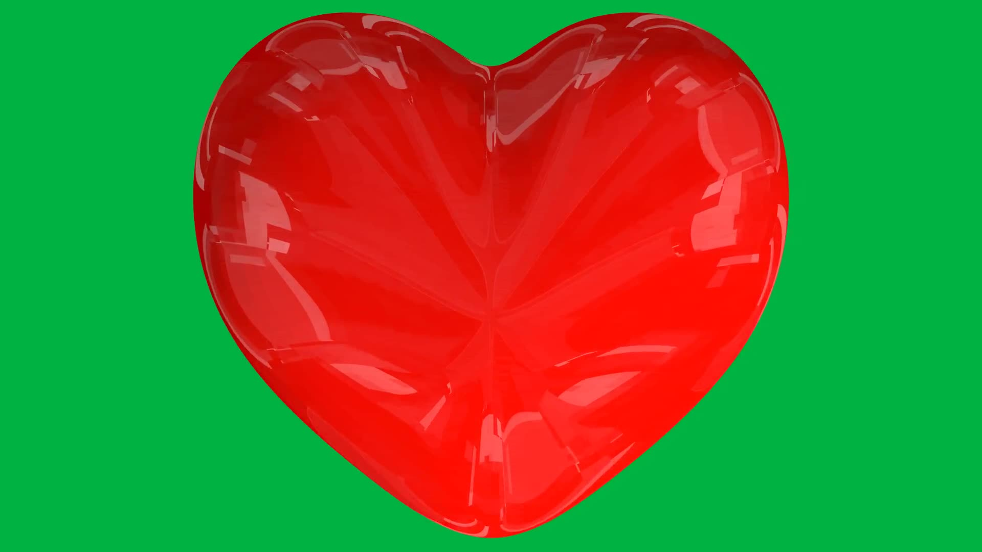 Heart red heartbeat rhythm green