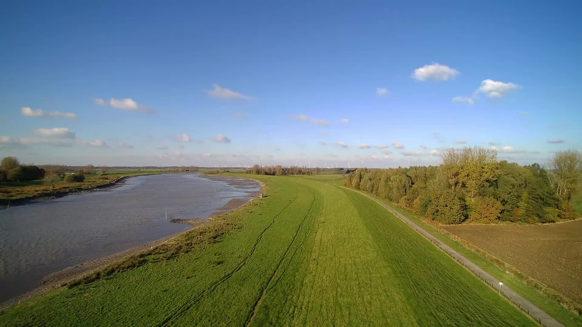 Ostfriesland river germany nature aerial