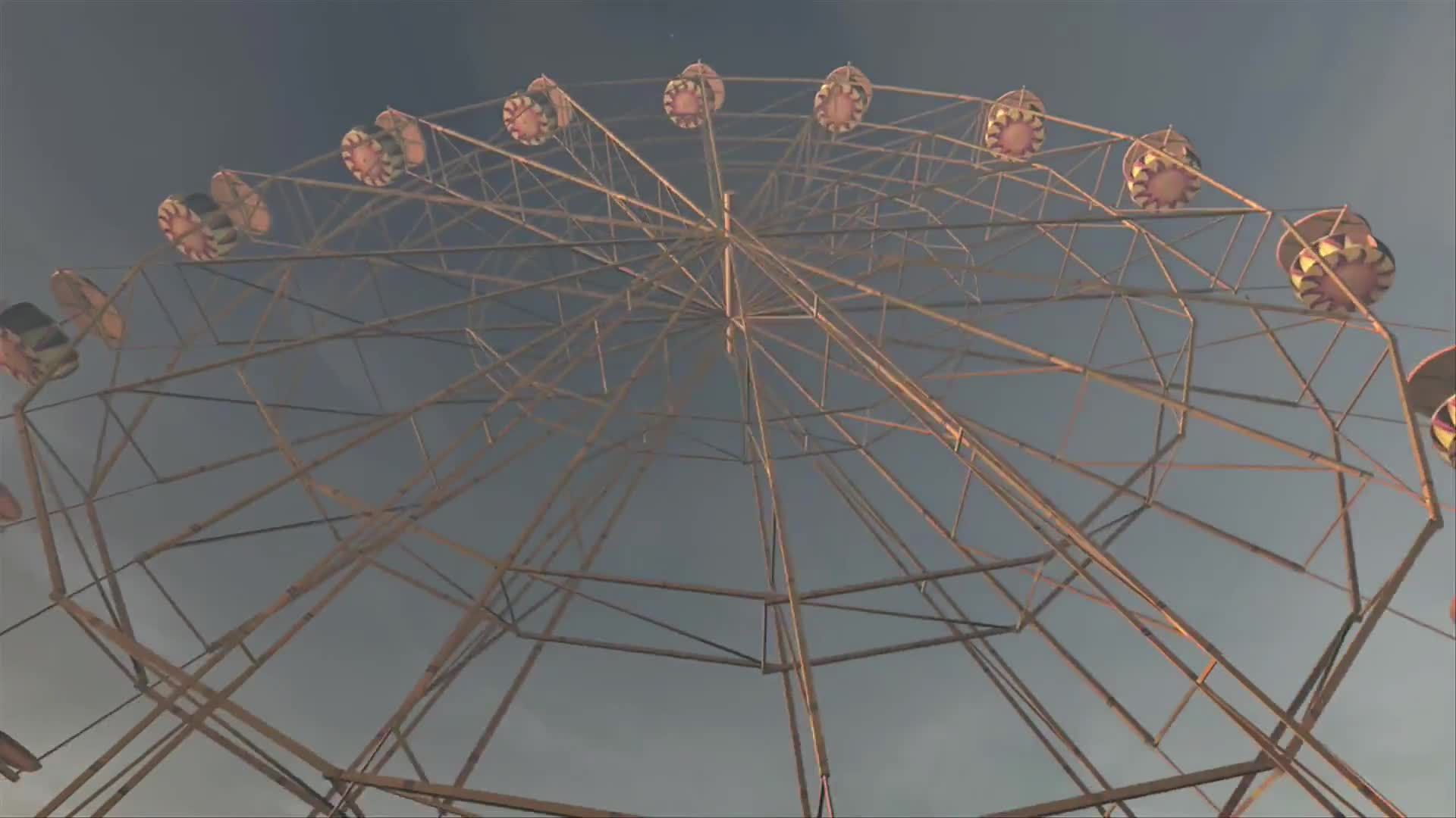 Ferries wheel noria festival fair cloudy