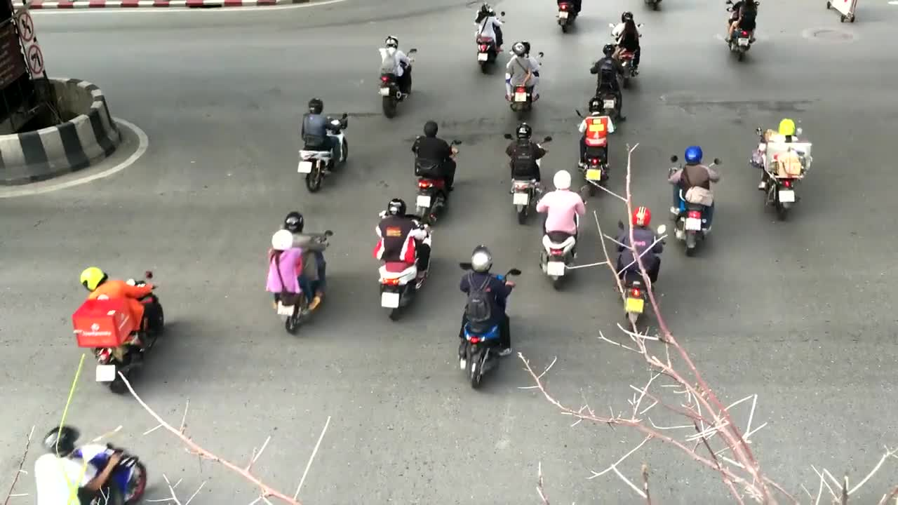 Scooters traffic street motorcycle road