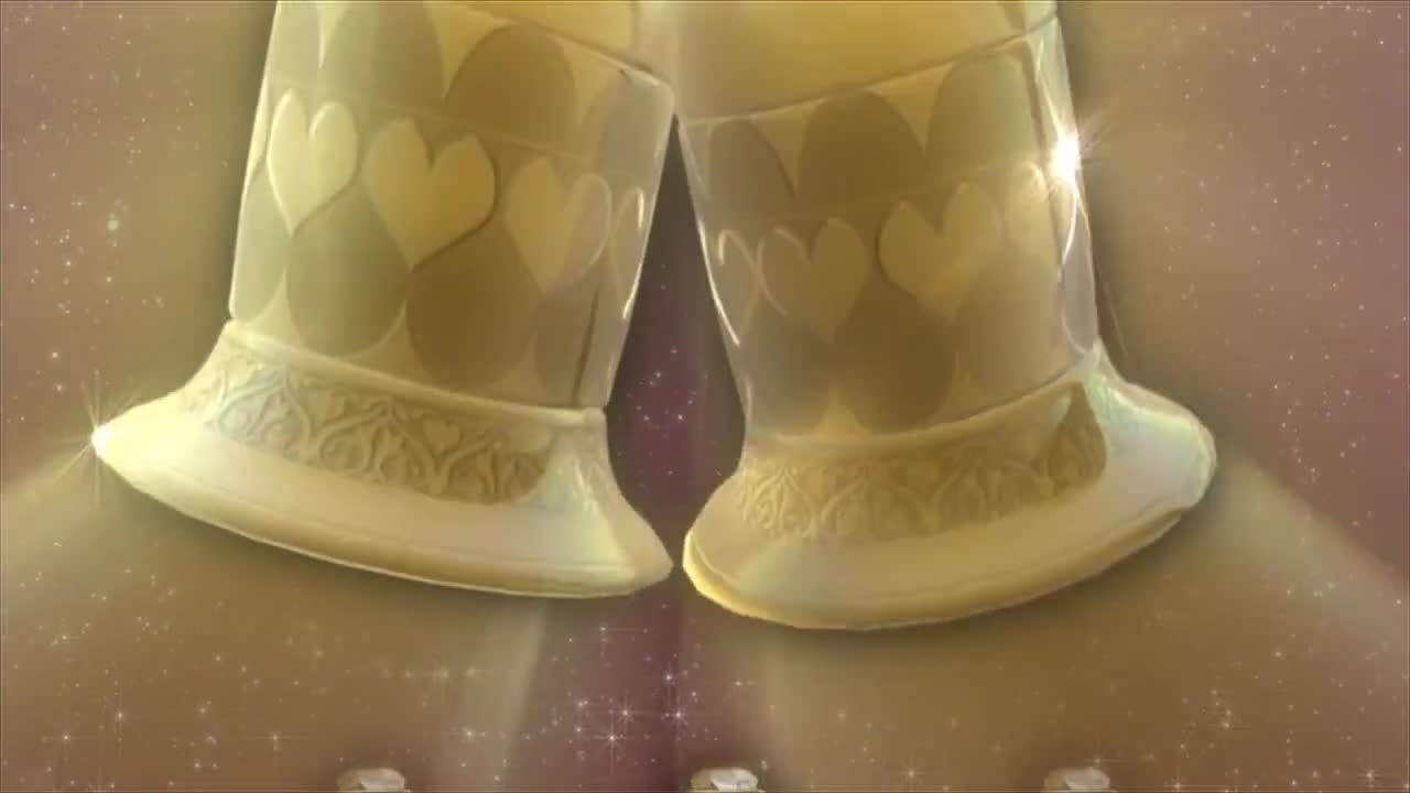 Golden bells wedding love celebration gold