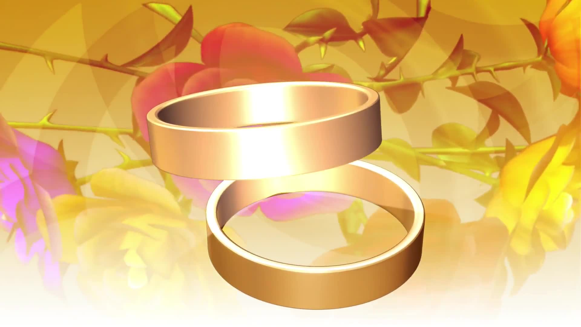 Wedding rings gold romantic love background
