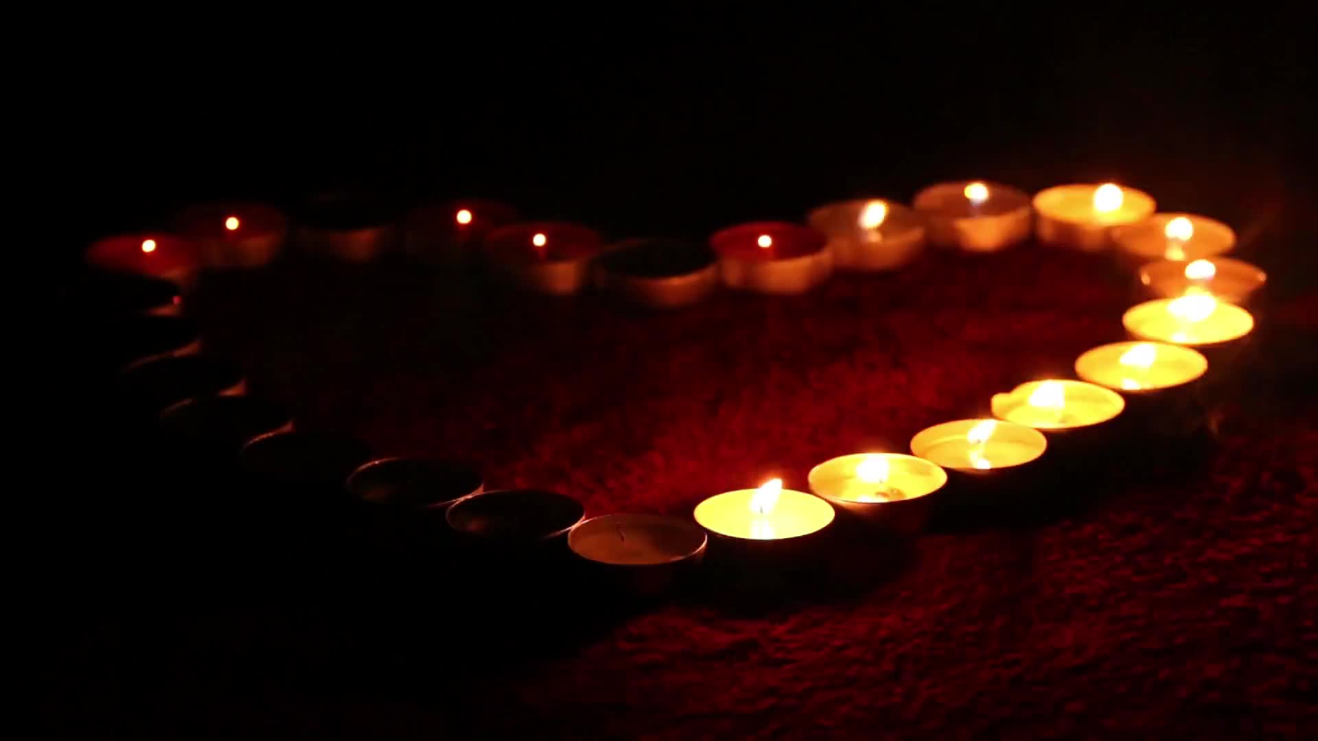 Candles heart flame fire love
