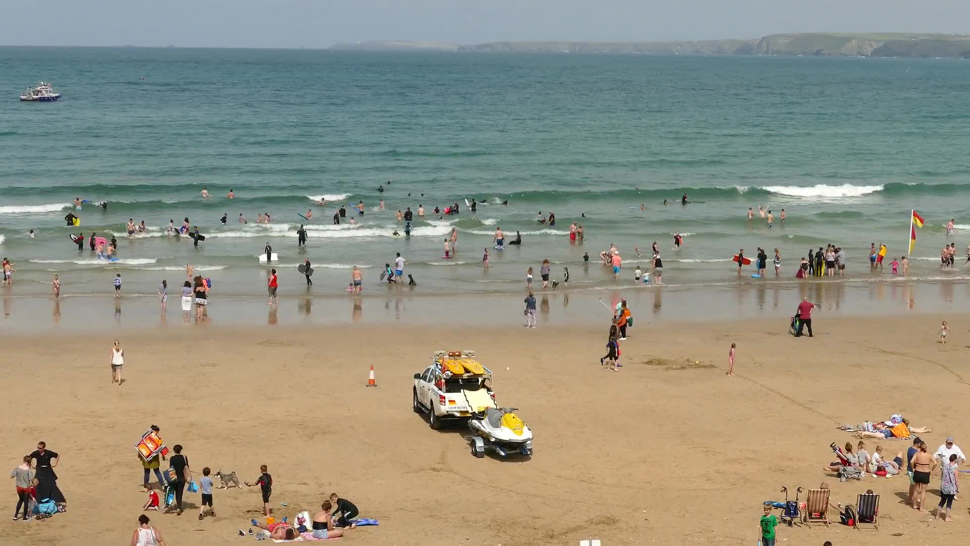 Cornwall newquay england sea beach