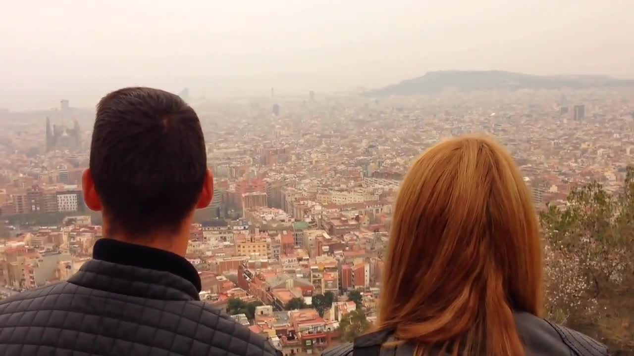 Barcelona tourismn tourists view sightseeing