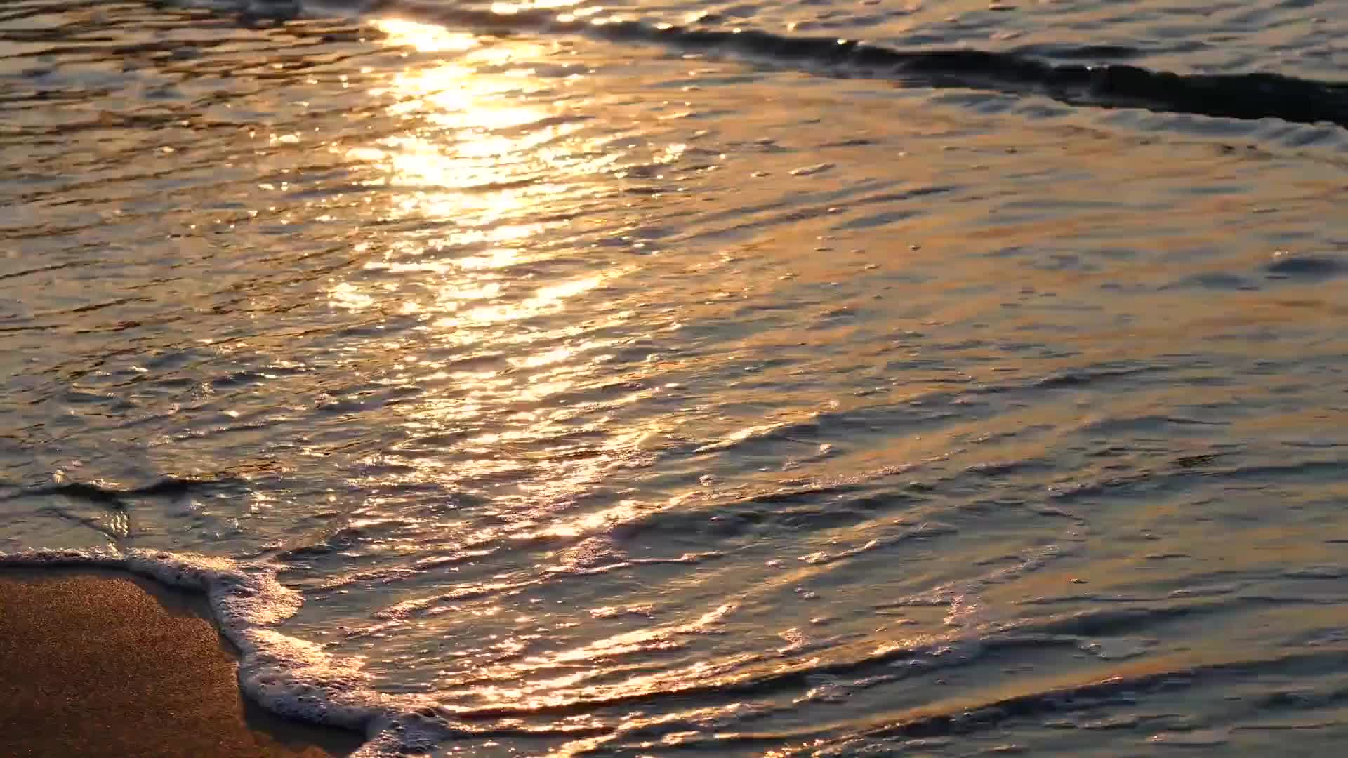 Sea wave golden sand