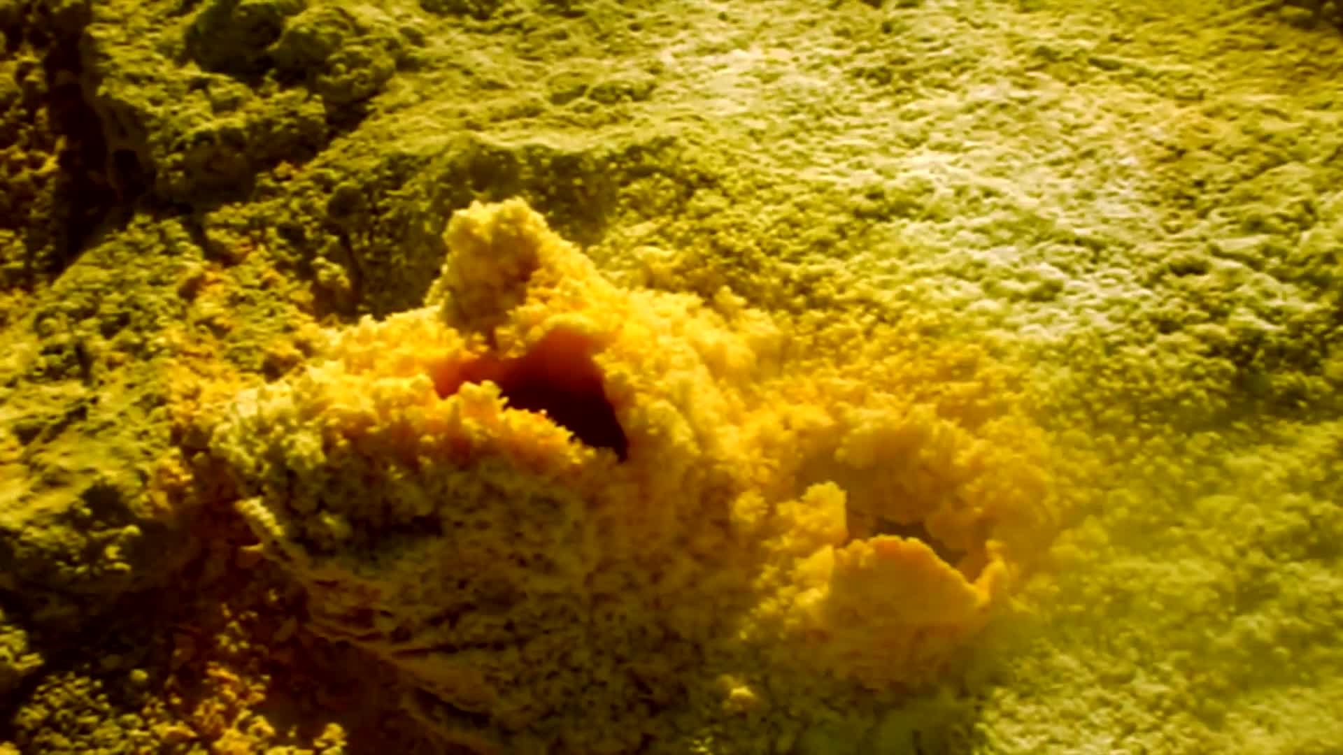 Geothermal sulfur poisonous gas volcano