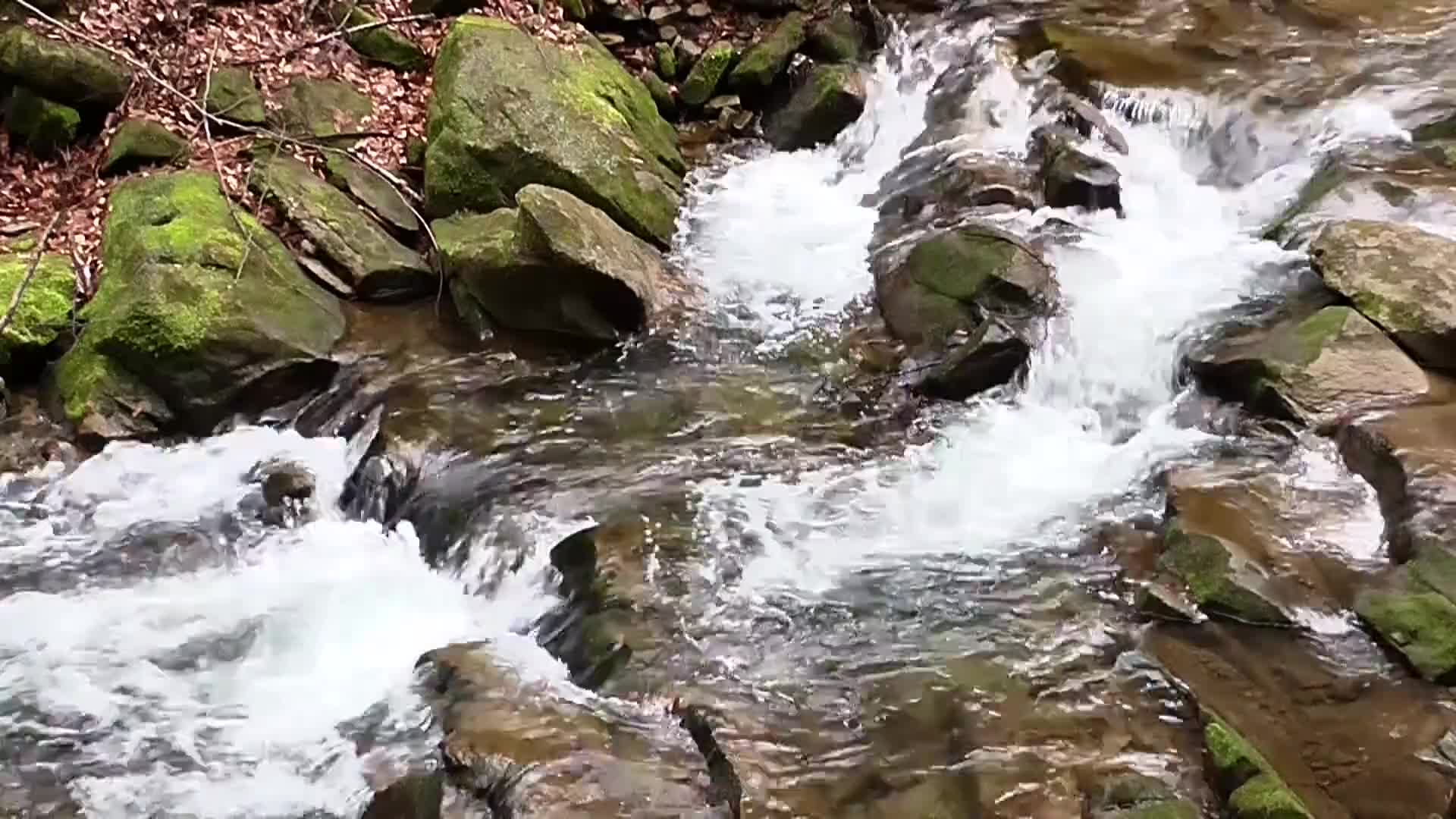River cascade water waterfall brook